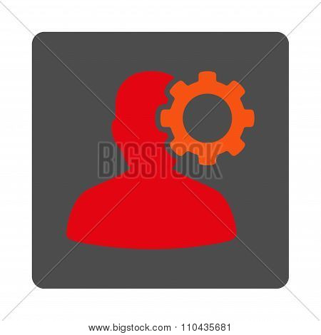 Head Ache Rounded Square Button