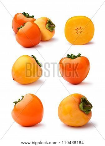 Persimmons Isolated Set