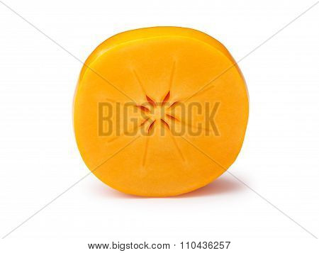 Halved Persimmon Isolated