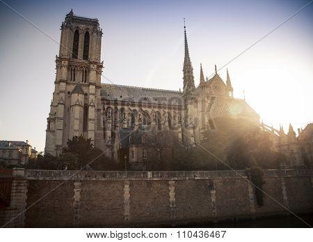 Notre Dame de Paris Cathedral France.