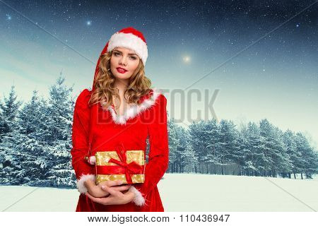 Sexy Woman In Christmas