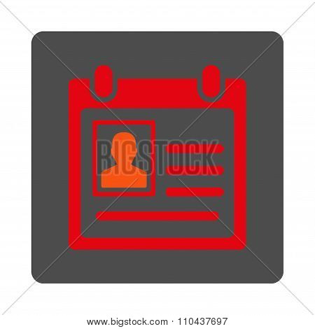 Personal Badge Rounded Square Button