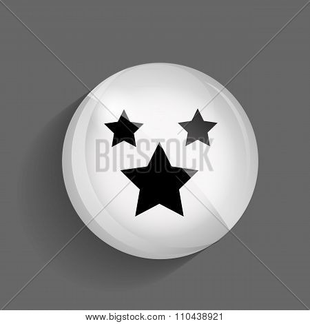 Favourites Glossy Icon Vector Illustration