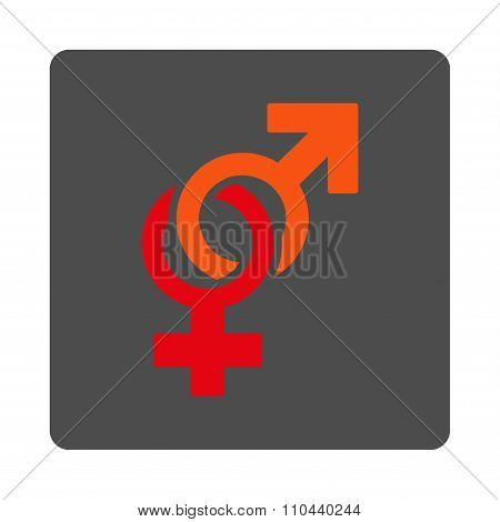 Sexual Symbols Rounded Square Button