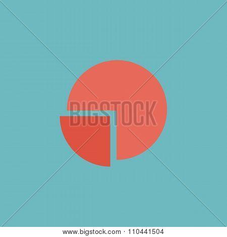Pie chart flat icon