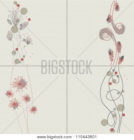 Graphic floral background