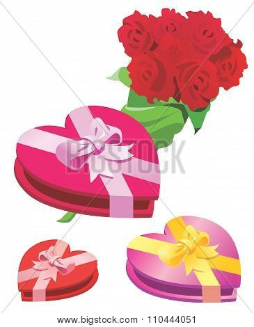 Valentine's Box With Roses