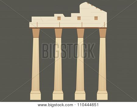 The Ancient Greek Ruins. Ancient Columns, Landmark Turkey.