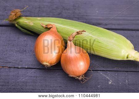 Sweet Corn And Goolden Onion