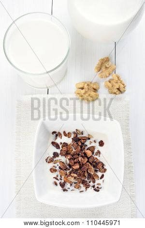 Granola And Milk