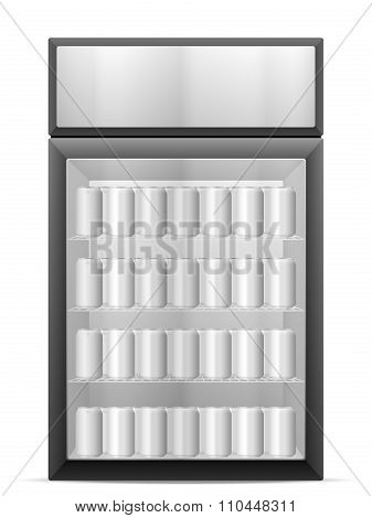 Display Fridge With Drink Cans