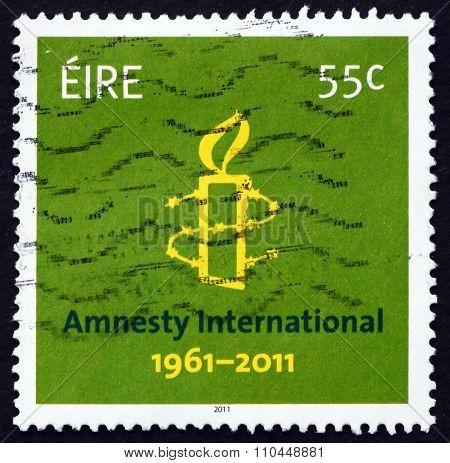 Postage Stamp Ireland 2011 Amnesty International