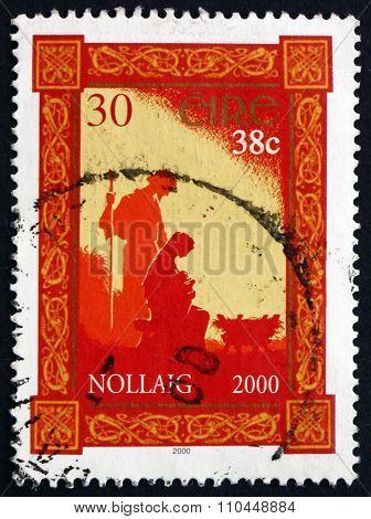 Postage Stamp Ireland 2000 Nativity, Christmas