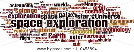 Space Exploration Word Cloud