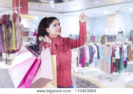 Indian Female Buyer In The Shopping Center
