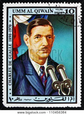 Postage Stamp Umm Al-quwain 1972 Charles De Gaulle