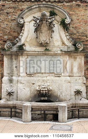 Fountain of Benedict XIII in Urbino