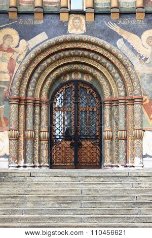 Entrance door of the Dormition Cathedral