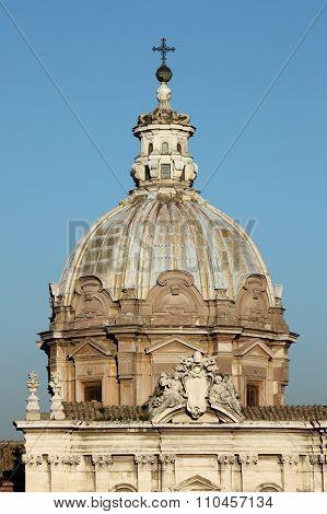 Dome of Saint Lucas and Martina Church