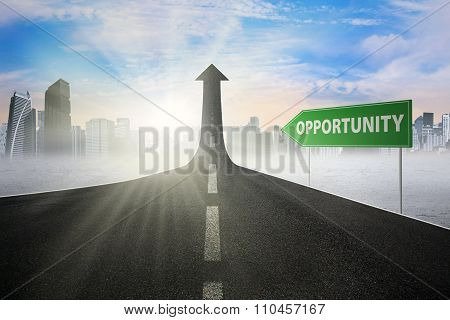 Road Sign With Opportunity Text