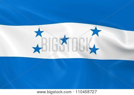 Waving Flag Of Honduras - 3D Render Of The Honduran Flag With Silky Texture