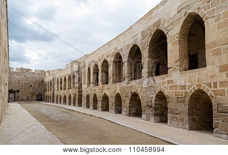 A Court At An Old Citadel In Alexandria