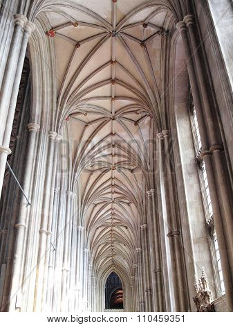 Vaulted ceiling of Canterbury Cathedral
