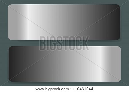 Two stainless steel labels vector