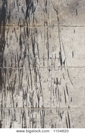 Bitumen Splashes On Wall