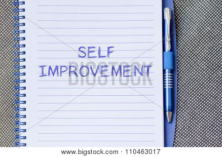 Self Improvement Write On Notebook