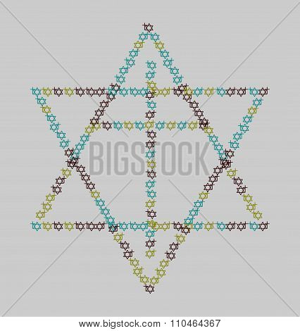 Cross and hexagram ecumenical icon
