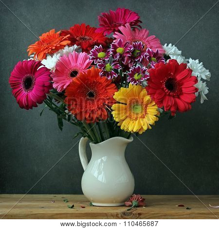 Still Life With A Bouquet Of Transvaal Daisies