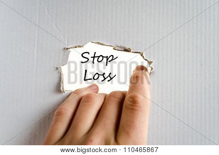 Stop Loss Text Concept