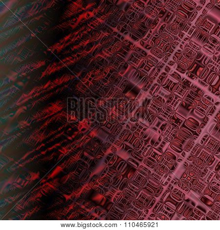 Black and red distorted glass tiles