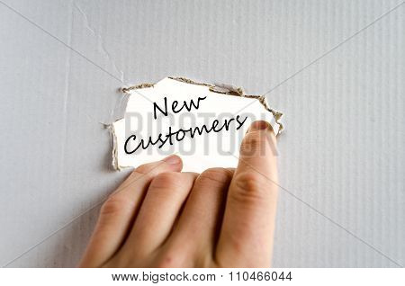 New Customers Text Concept