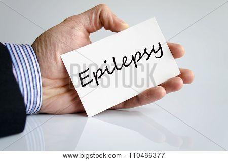 Epilepsy Text Concept
