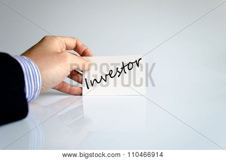 Investor Text Concept