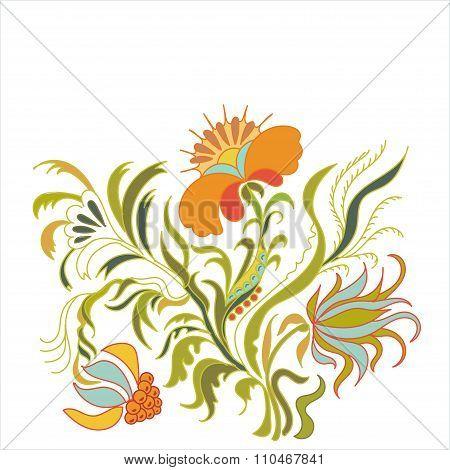 Vintage floral illustration.