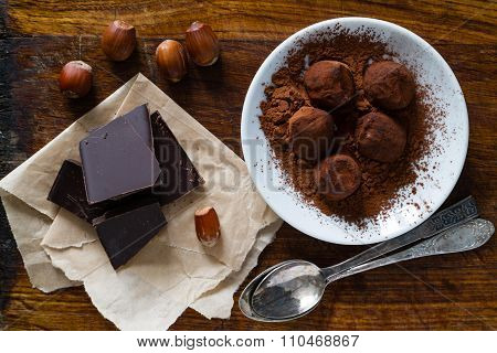 Truffles and ingredients