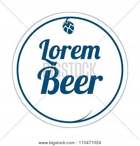 Beer label logo vector illustration