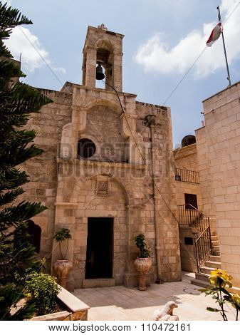 Very Old Christian Church At Burqin Arab Territories In Palestine.