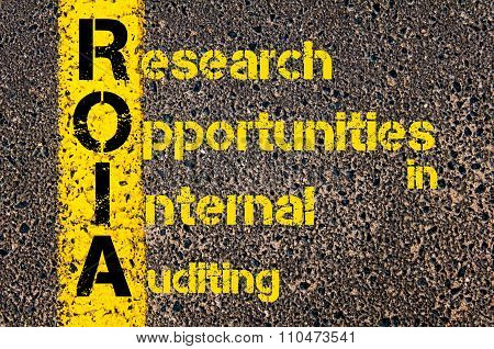 Accounting Business Acronym Roia Research Opportunities In Internal Auditing