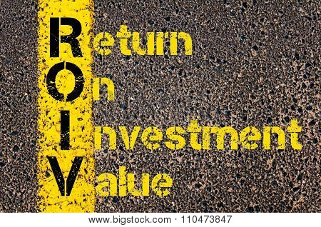 Accounting Business Acronym Roiv Return On Investment Value