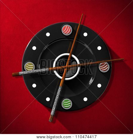 Sushi Time Concept - Clock