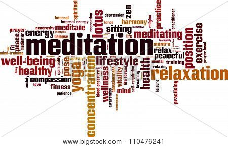 Meditation Word Cloud