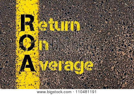 Accounting Business Acronym Roa Return On Average