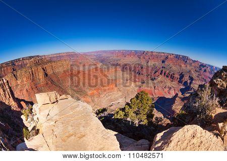 Fisheye view of the Grand Canyon panorama