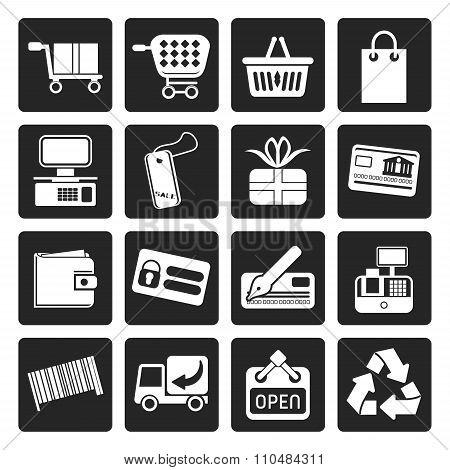 Black Simple Online Shop icons