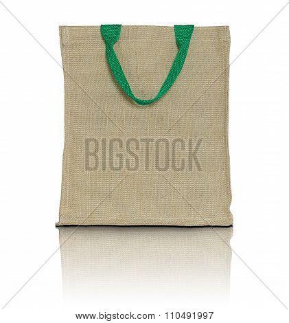 Eco Fabric Bag On White Background