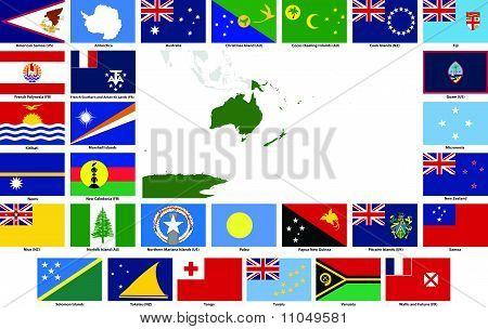 Oceania Vector Flags And Maps